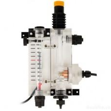Suport sonde PSS-Plexi - debitmetru rotativ + sonda amperometric